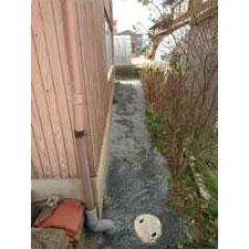 チップ砕石砂利敷き詰敷き均し工事-10