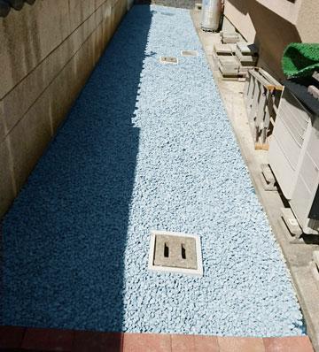 お庭の砂利敷き・敷き均し・敷き詰め工事