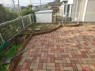 お庭の雑用工事 花壇撤去作業-01