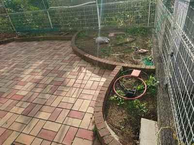 お庭の雑用工事 花壇撤去作業-03