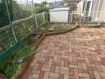 お庭の雑用工事 花壇撤去作業-04