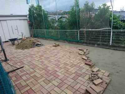 お庭の雑用工事 花壇撤去作業-15