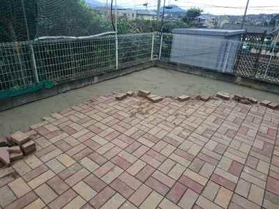 お庭の雑用工事 花壇撤去作業-17