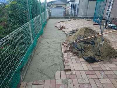 お庭の雑用工事 花壇撤去作業-18