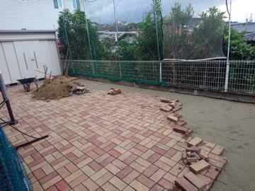 お庭の雑用工事-2